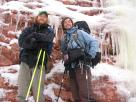 Kyle Pickering and Bobby McDowell walking across Canada